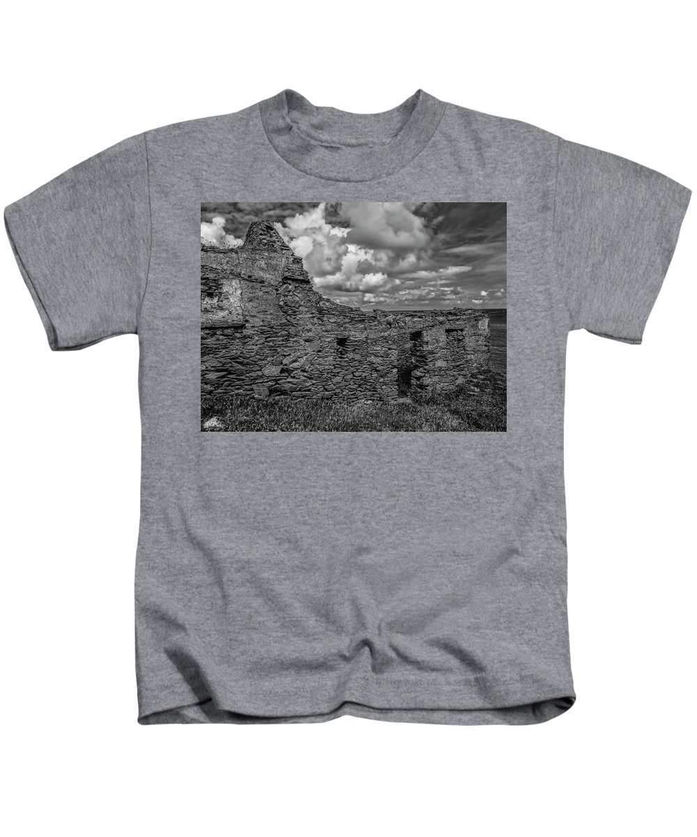 Black And Whiote Kids T-Shirt featuring the photograph Abandoned 5 Bw. by Leif Sohlman