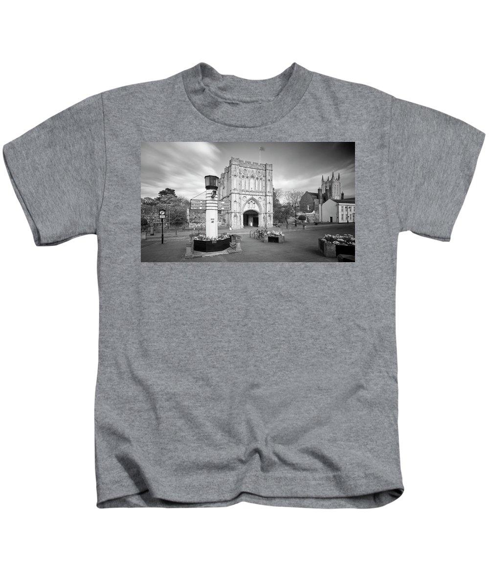 Bury St Edmunds. England Kids T-Shirt featuring the photograph Abbey Gate by Joe Taylor