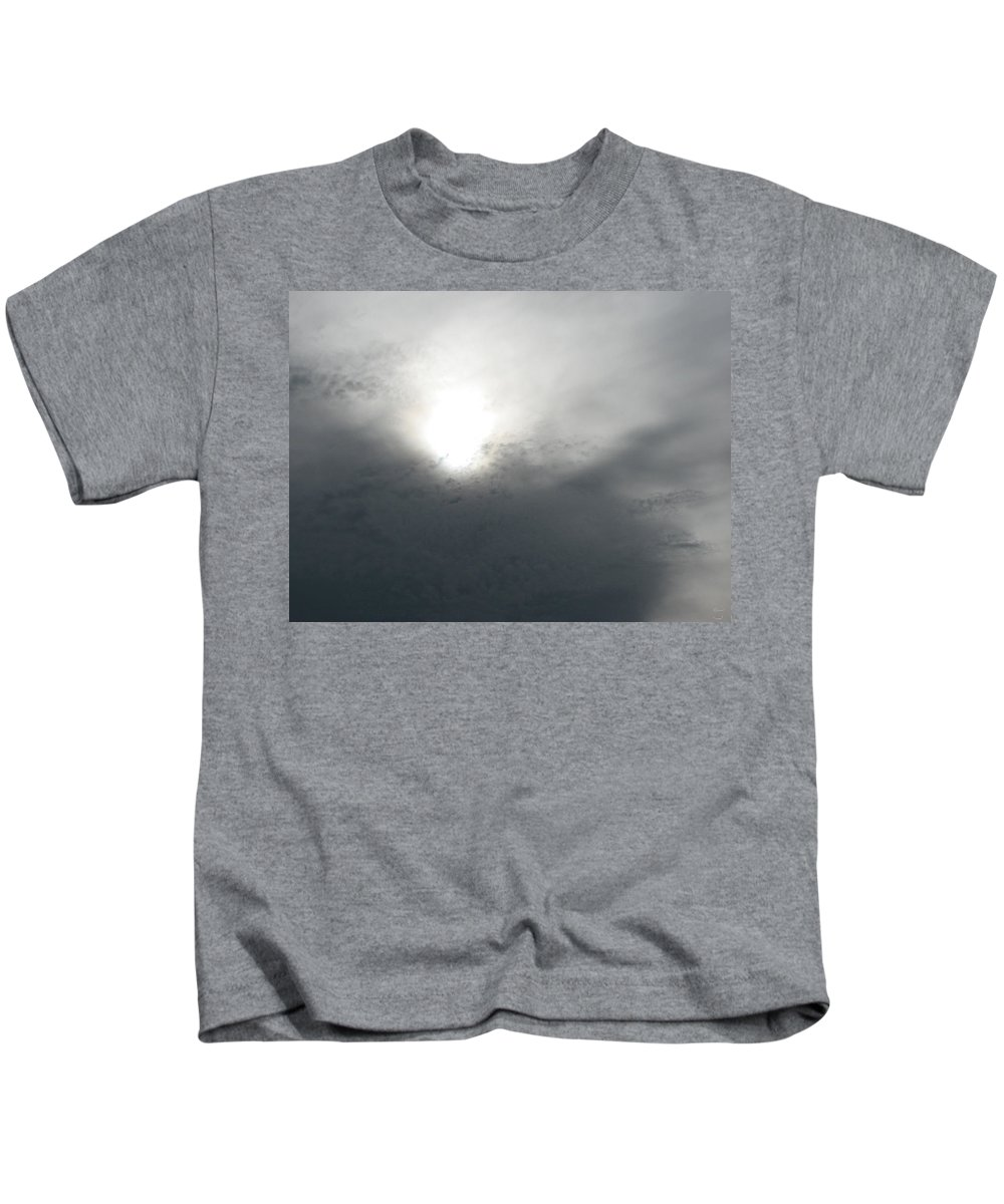 Clouds Kids T-Shirt featuring the photograph Above by Stacey May