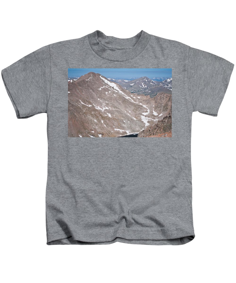 Mountains Kids T-Shirt featuring the photograph Above Treeline by Colleen Coccia