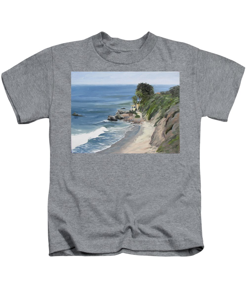 Seascape Kids T-Shirt featuring the painting Above Zuma by Jay Johnson