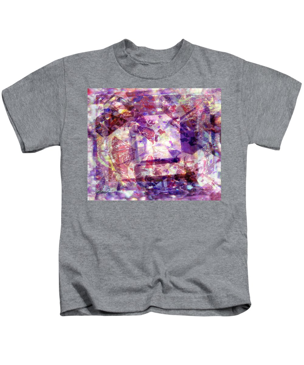 Abstract Kids T-Shirt featuring the digital art Abstacked by Seth Weaver