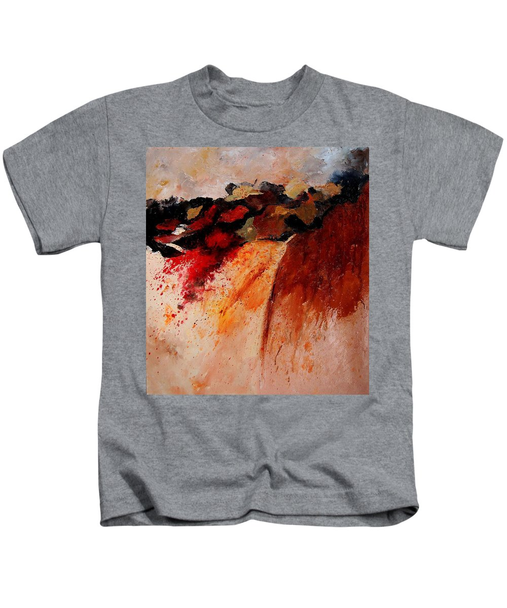 Abstract Kids T-Shirt featuring the painting Abstract 010607 by Pol Ledent