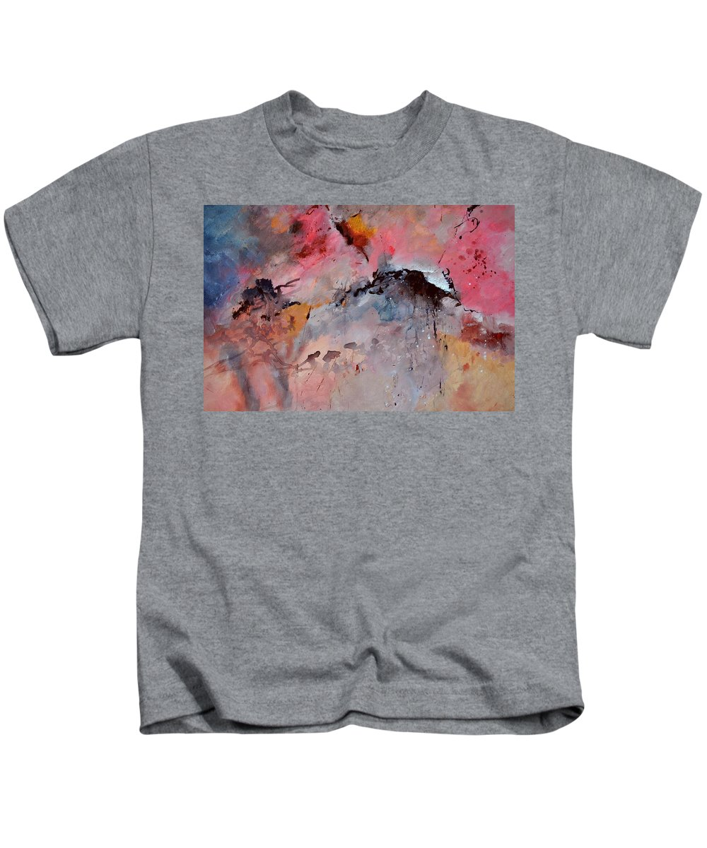 Abstract Kids T-Shirt featuring the painting Abstract 015082 by Pol Ledent