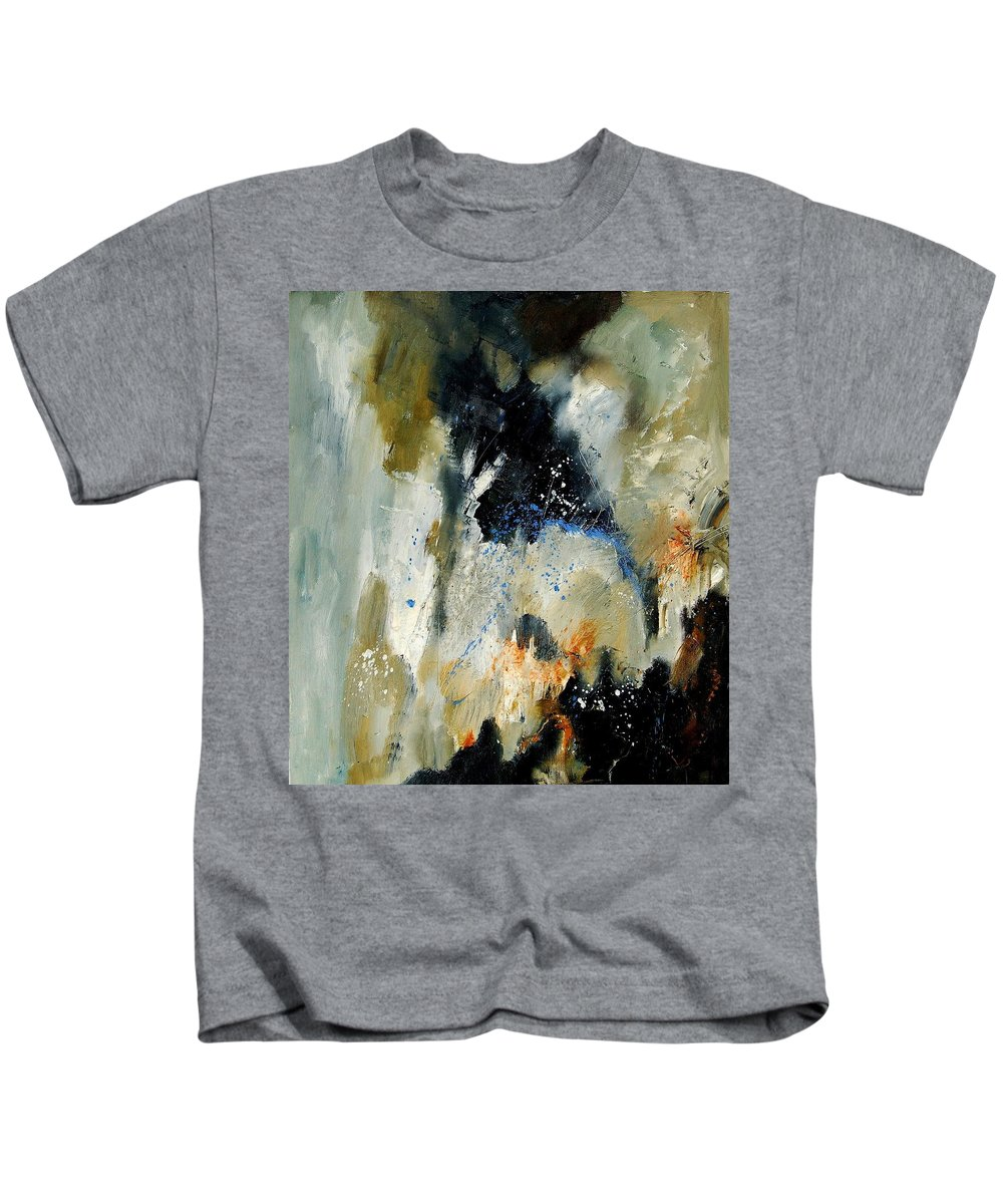 Abstarct Kids T-Shirt featuring the painting Abstract 070808 by Pol Ledent