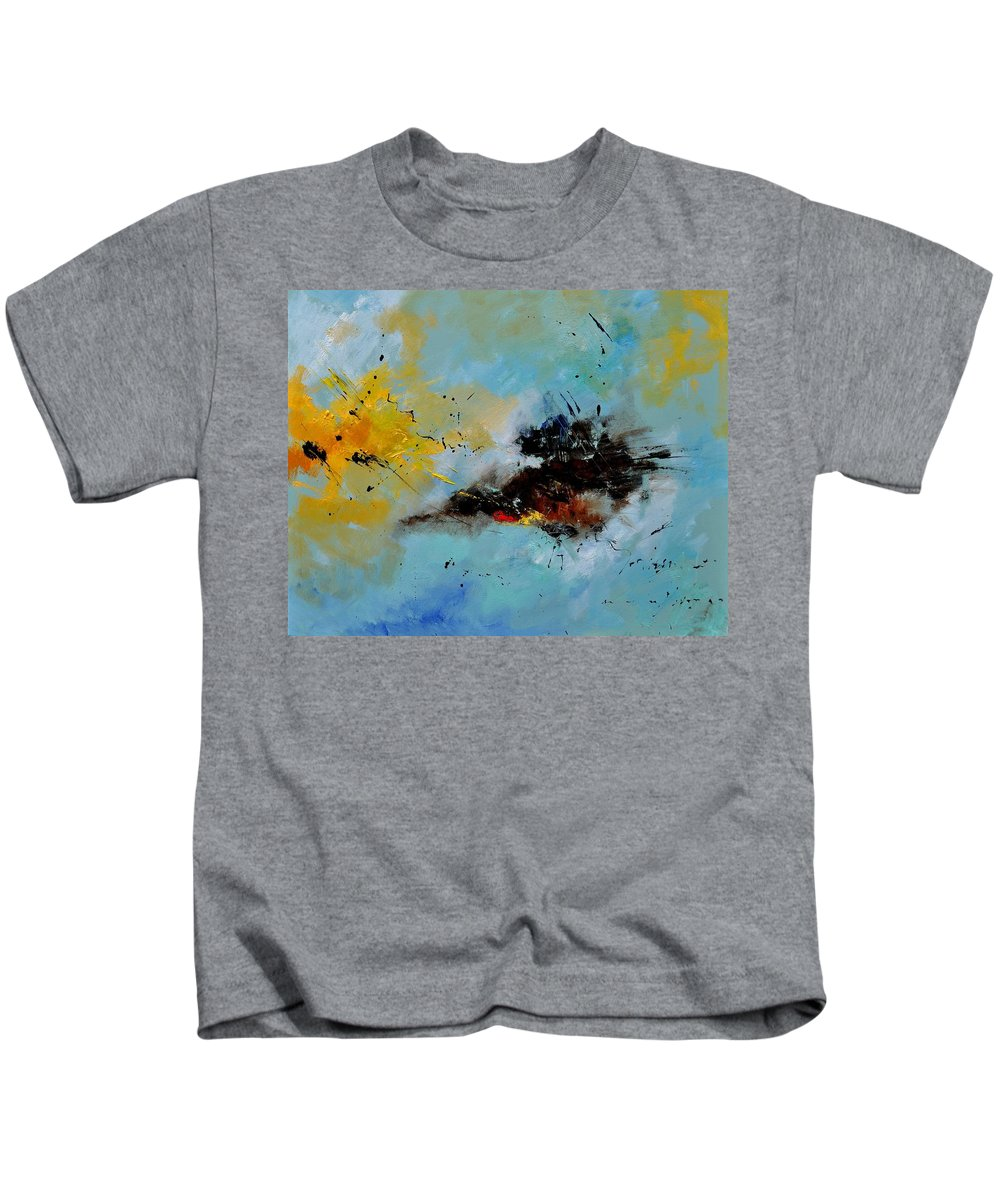 Abstract Kids T-Shirt featuring the painting Abstract 1811803 by Pol Ledent