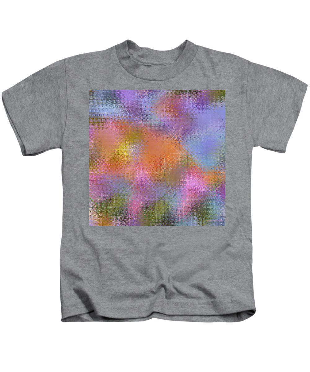 Flower Colored Abstract Kids T-Shirt featuring the digital art Abstract 405 by Judi Suni Hall