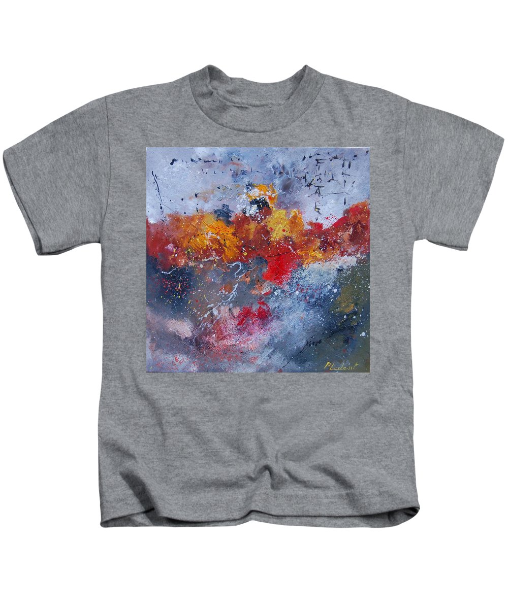 Abstract Kids T-Shirt featuring the painting Abstract 55902110 by Pol Ledent