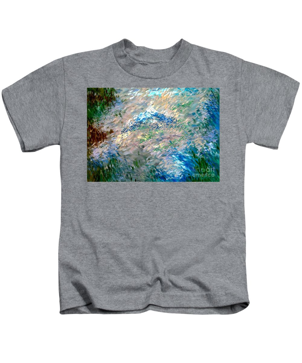 Abstract Kids T-Shirt featuring the digital art Abstract 6-03-09 A by David Lane
