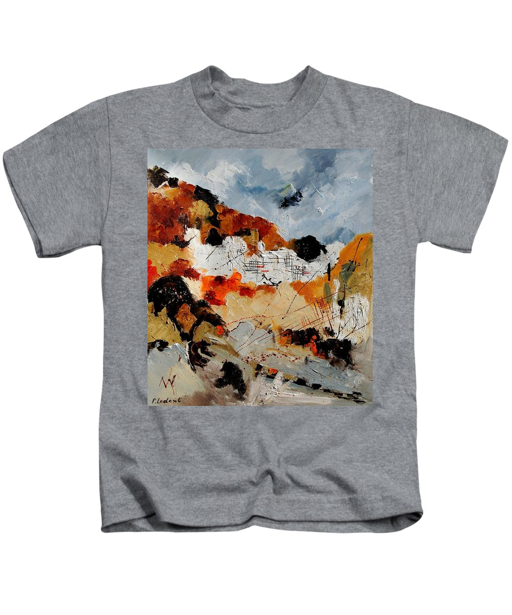 Abstract Kids T-Shirt featuring the painting Abstract 780708 by Pol Ledent