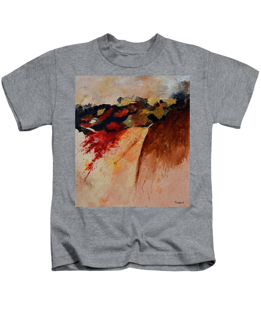 Abstract Kids T-Shirt featuring the painting Abstract 7861 by Pol Ledent