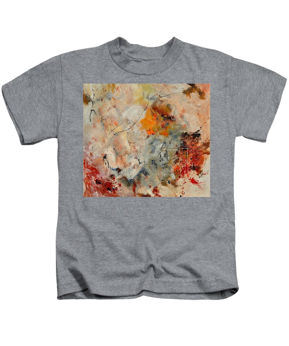 Abstract Kids T-Shirt featuring the painting Abstract 880150 by Pol Ledent