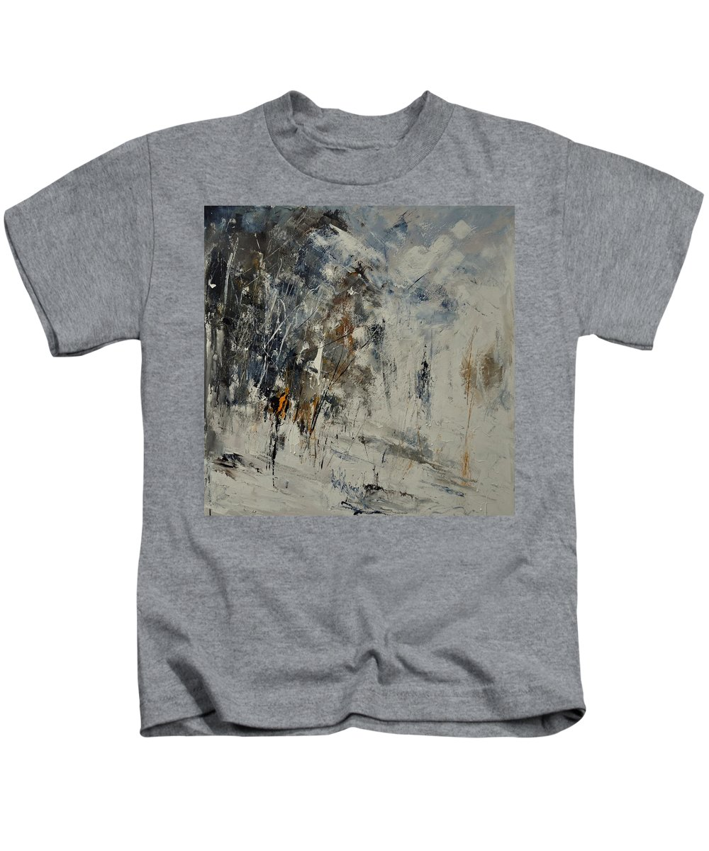 Abstract Kids T-Shirt featuring the painting Abstract 8821207 by Pol Ledent