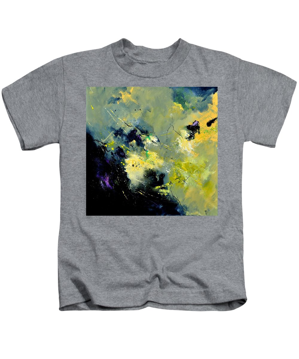 Abstract Kids T-Shirt featuring the painting Abstract 8821603 by Pol Ledent