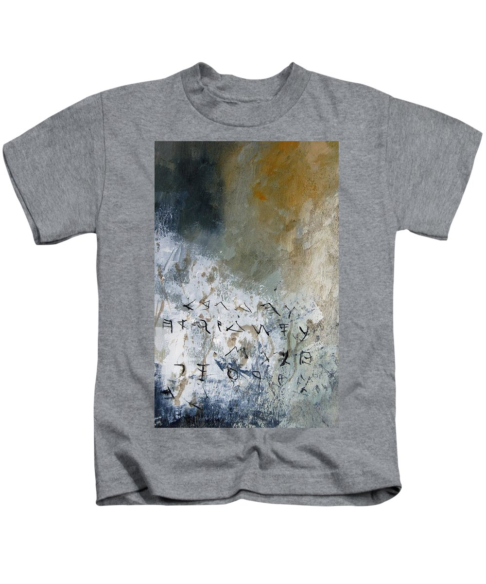 Abstract Kids T-Shirt featuring the painting Abstract 904023 by Pol Ledent