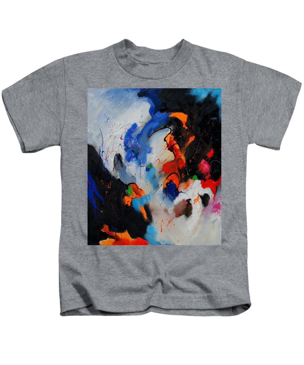Abstract Kids T-Shirt featuring the painting Abstract 905060 by Pol Ledent