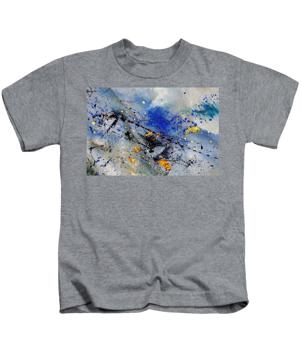 Abstract Kids T-Shirt featuring the painting Abstract 969090 by Pol Ledent