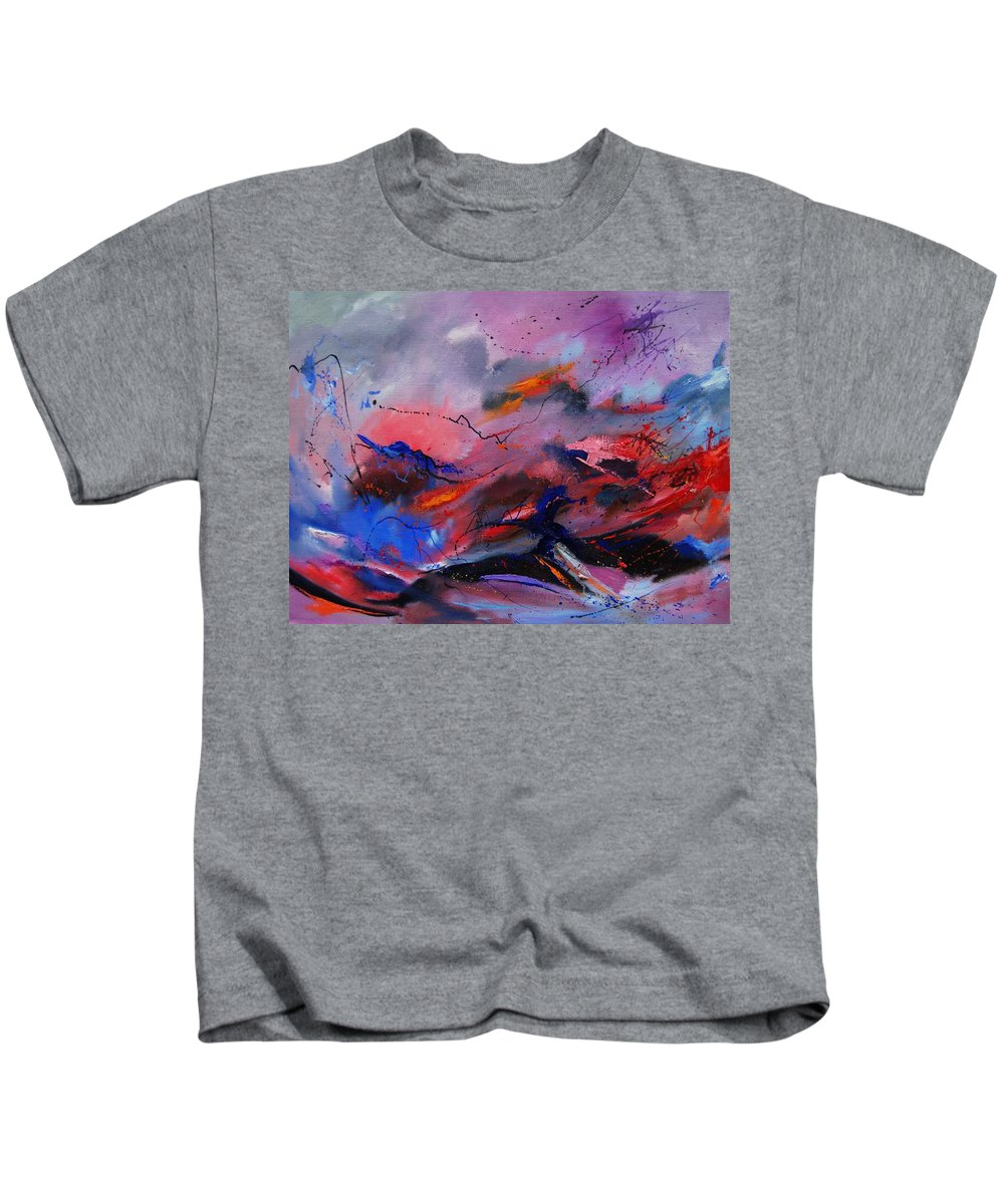 Abstract Kids T-Shirt featuring the painting Abstract 971260 by Pol Ledent