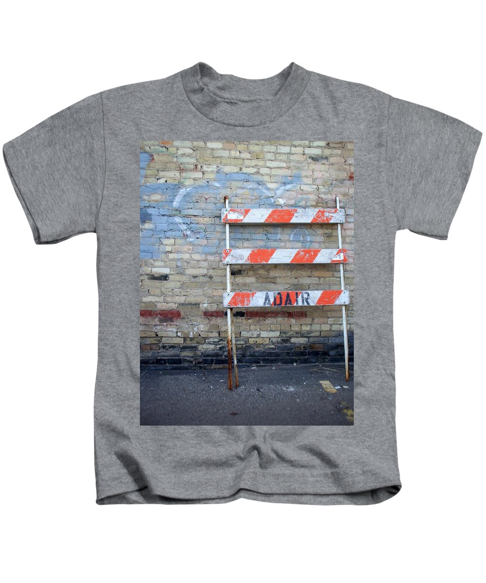 Industrial Kids T-Shirt featuring the photograph Abstract Brick 1 by Anita Burgermeister
