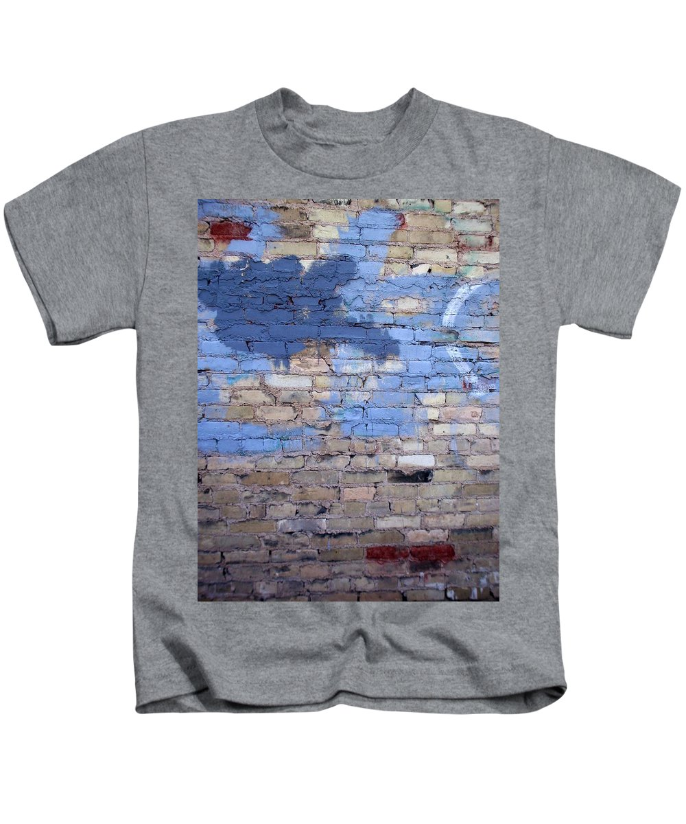 Industrial Kids T-Shirt featuring the photograph Abstract Brick 3 by Anita Burgermeister