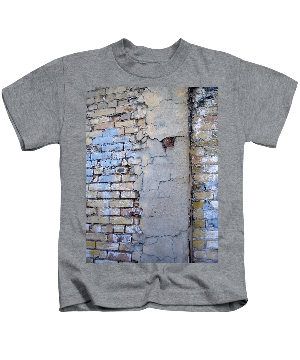 Industrial Kids T-Shirt featuring the photograph Abstract Brick 4 by Anita Burgermeister