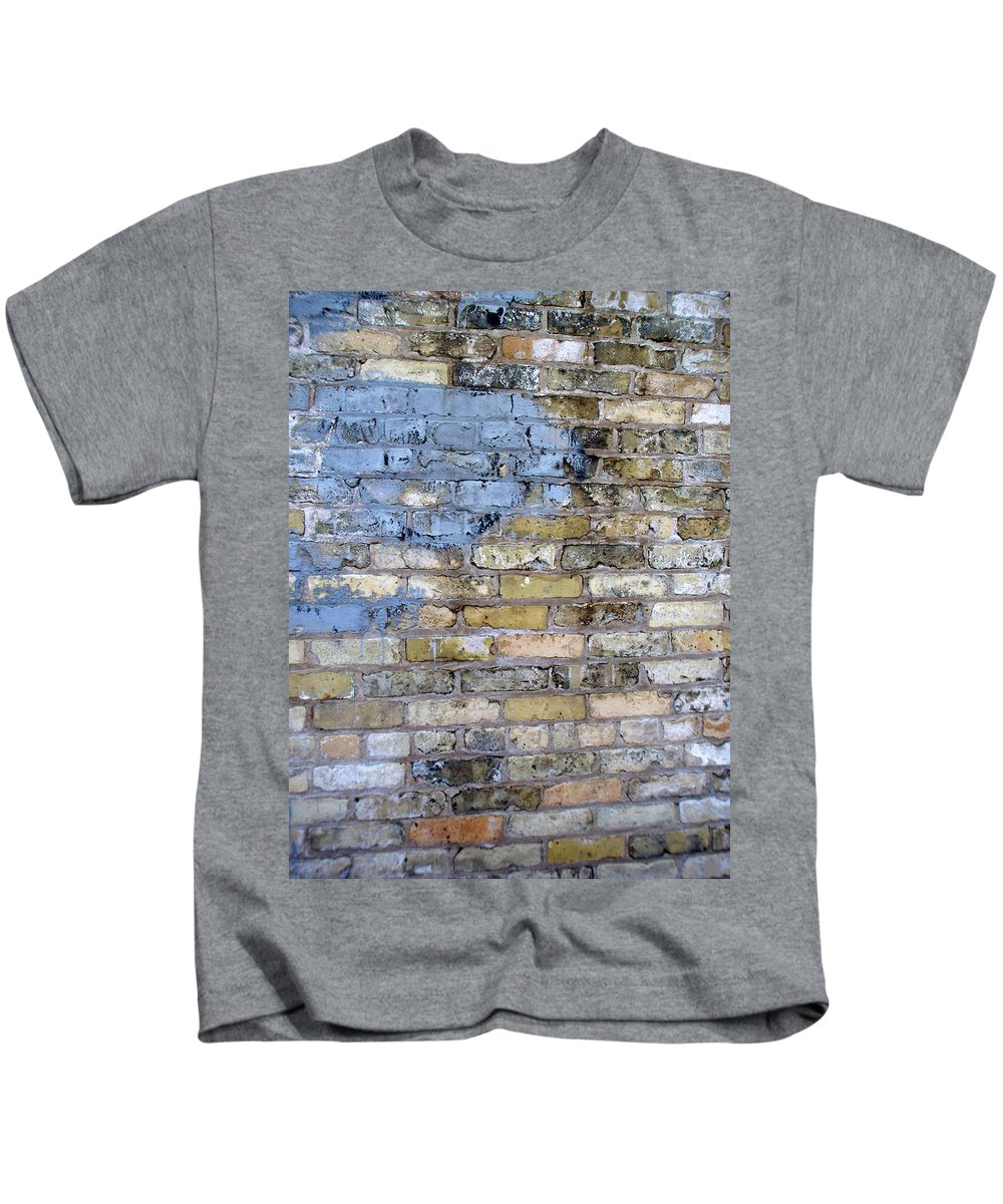 Industrial Kids T-Shirt featuring the photograph Abstract Brick 6 by Anita Burgermeister