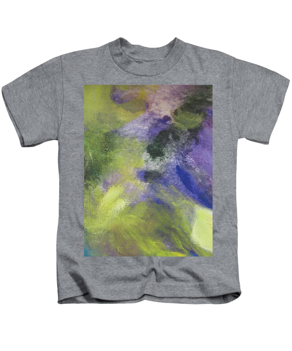 Abstact Kids T-Shirt featuring the painting Abstract Close Up 1 by Anita Burgermeister