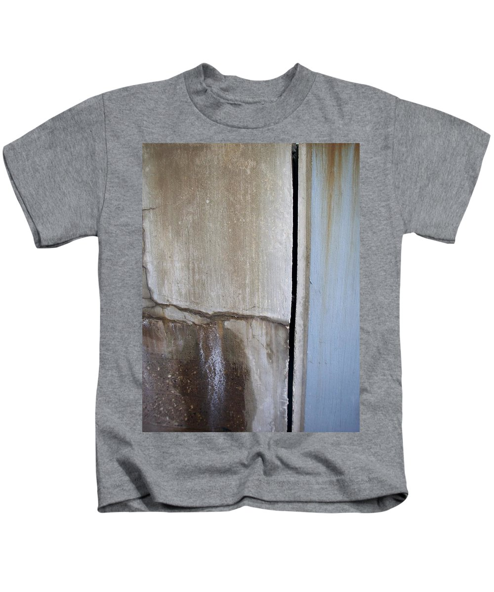 Industrial. Urban Kids T-Shirt featuring the photograph Abstract Concrete 1 by Anita Burgermeister