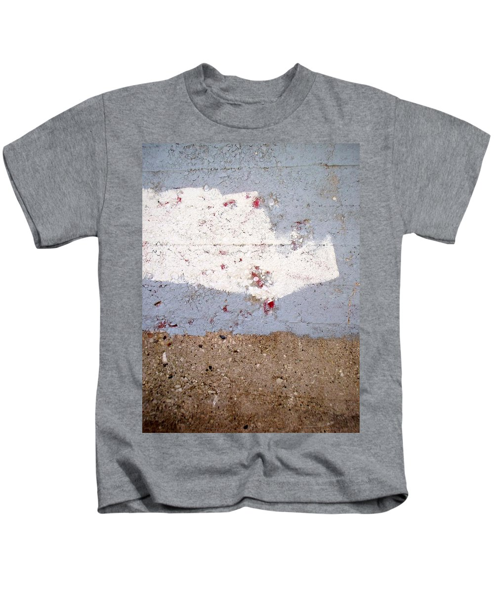 Industrial. Urban Kids T-Shirt featuring the photograph Abstract Concrete 13 by Anita Burgermeister