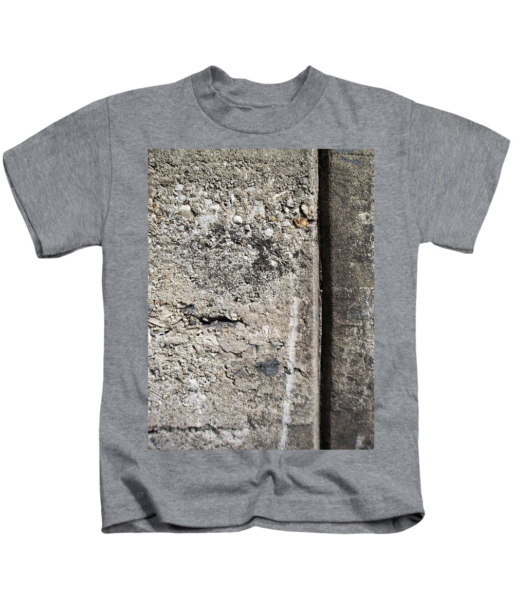 Industrial. Urban Kids T-Shirt featuring the photograph Abstract Concrete 16 by Anita Burgermeister
