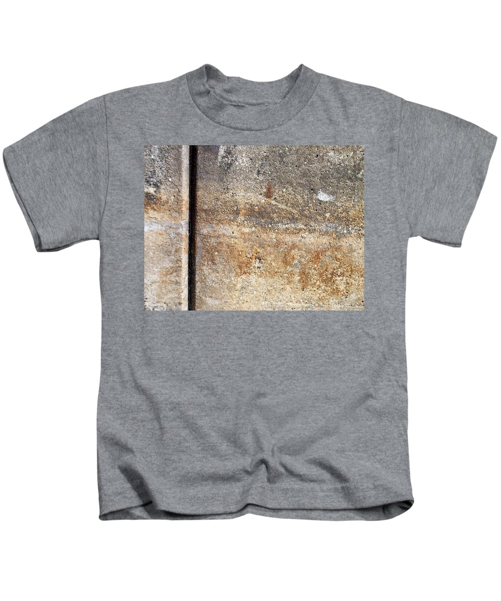 Industrial. Urban Kids T-Shirt featuring the photograph Abstract Concrete 17 by Anita Burgermeister