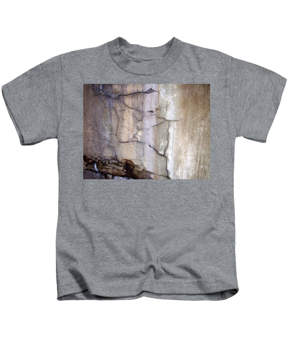 Industrial. Urban Kids T-Shirt featuring the photograph Abstract Concrete 2 by Anita Burgermeister
