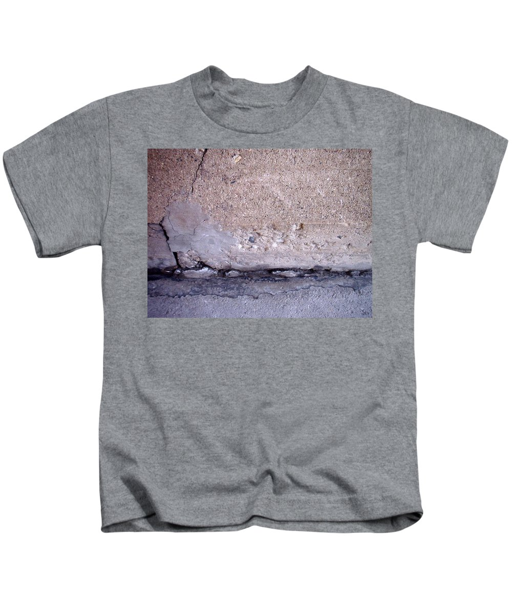 Industrial. Urban Kids T-Shirt featuring the photograph Abstract Concrete 4 by Anita Burgermeister