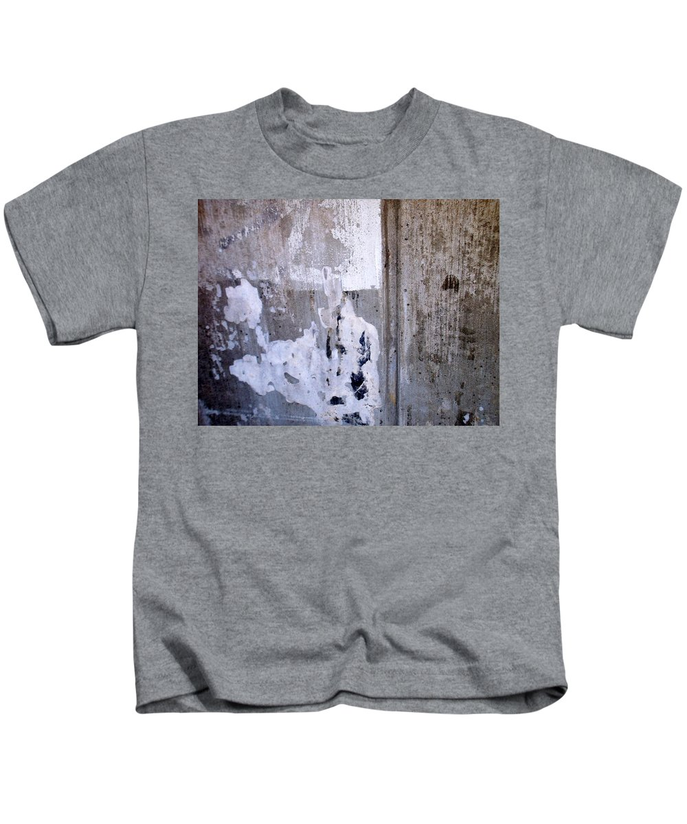 Industrial. Urban Kids T-Shirt featuring the photograph Abstract Concrete 9 by Anita Burgermeister