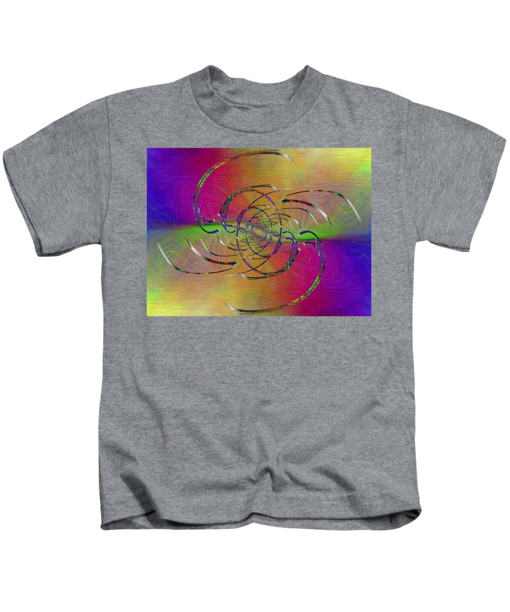 Abstract Kids T-Shirt featuring the digital art Abstract Cubed 317 by Tim Allen