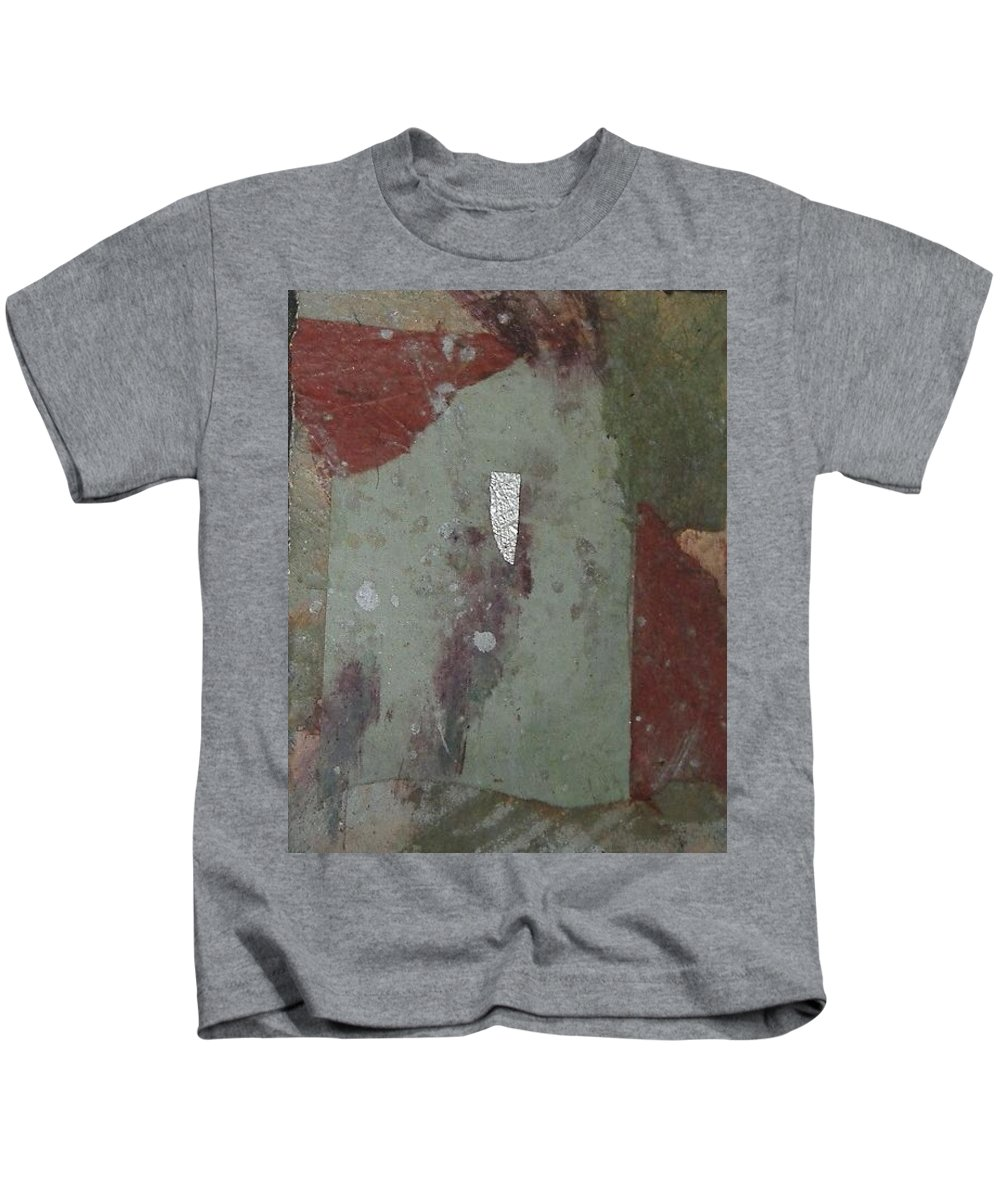 Kids T-Shirt featuring the mixed media Abstract One by Pat Snook