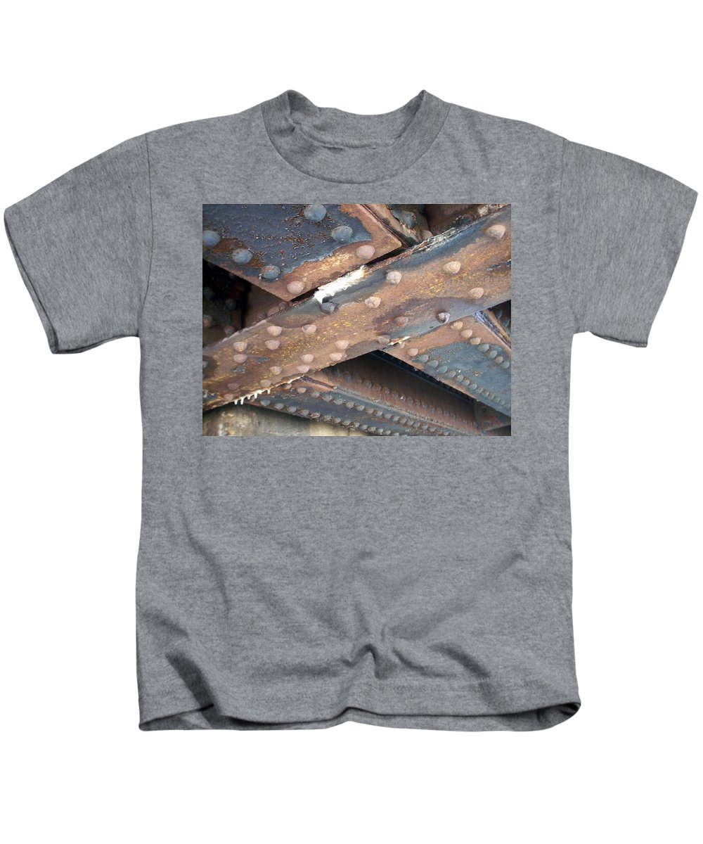 Urban Kids T-Shirt featuring the photograph Abstract Rust 2 by Anita Burgermeister