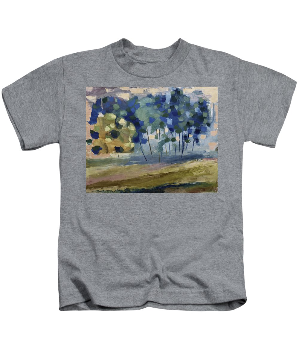 Snow Kids T-Shirt featuring the painting Abstract, Spring by Alexander Fuza