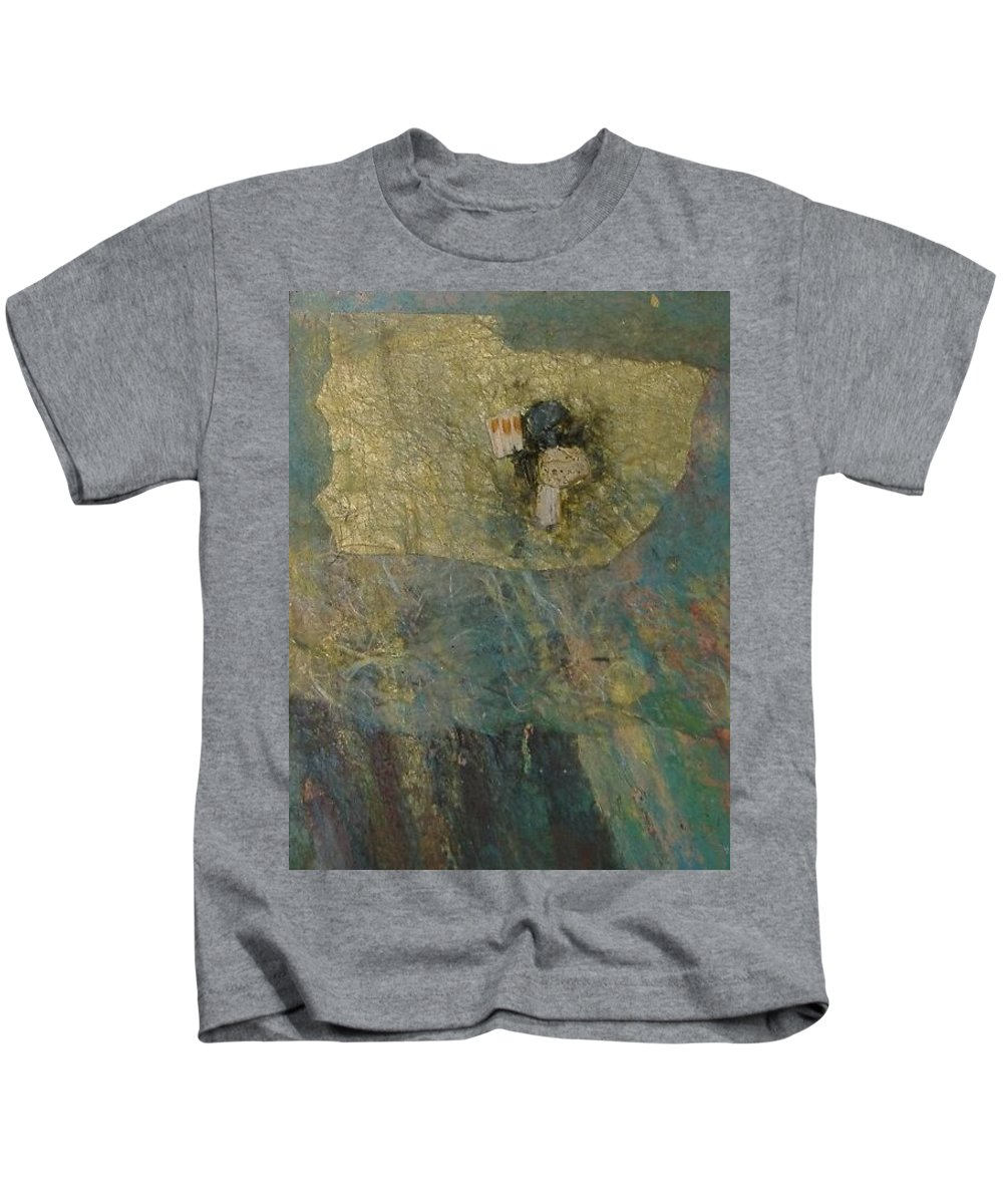 Abstract Kids T-Shirt featuring the mixed media Abstract Two by Pat Snook