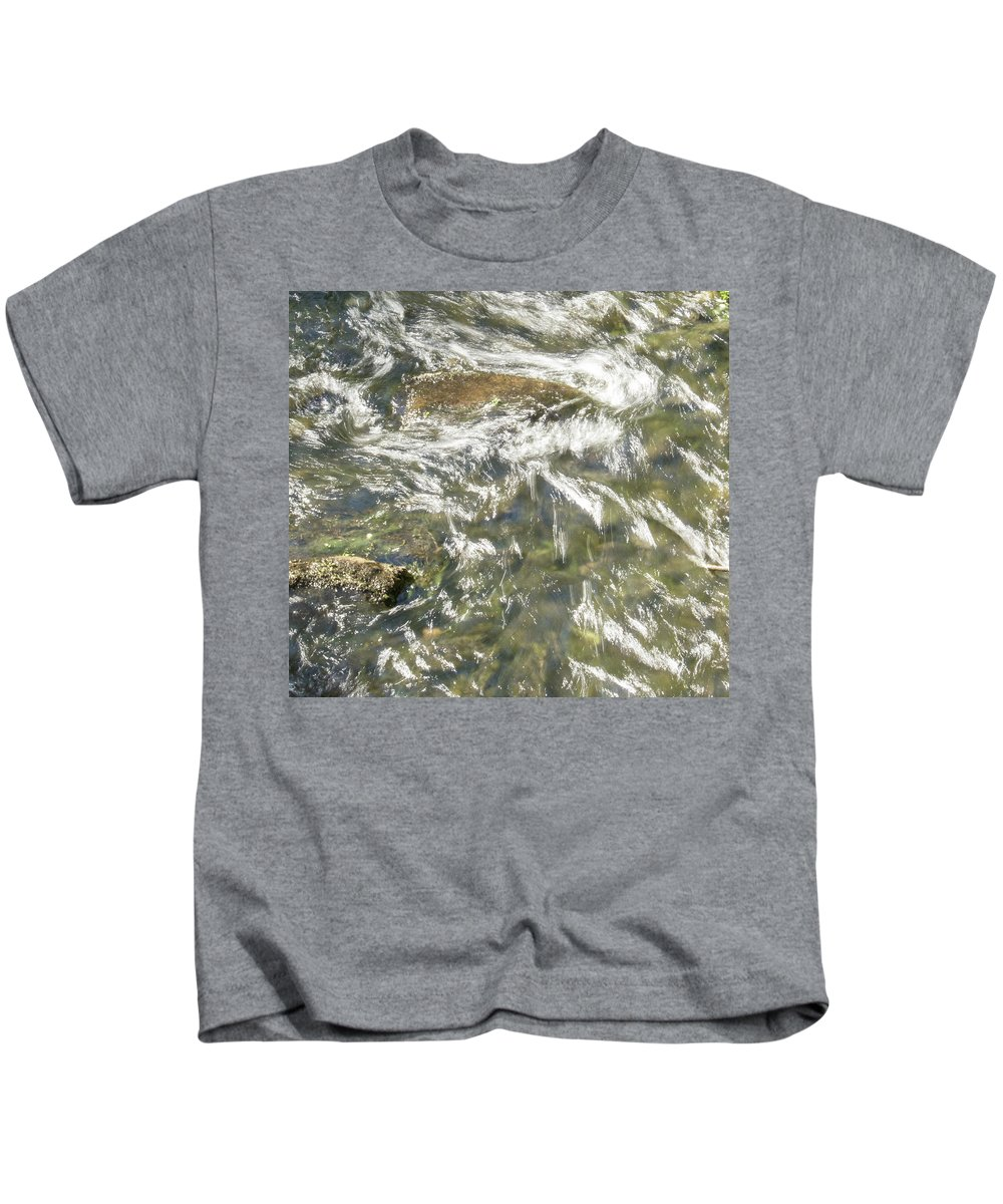 Water Kids T-Shirt featuring the photograph Abstract Water Art Vi by Lori Lynn Sadelack