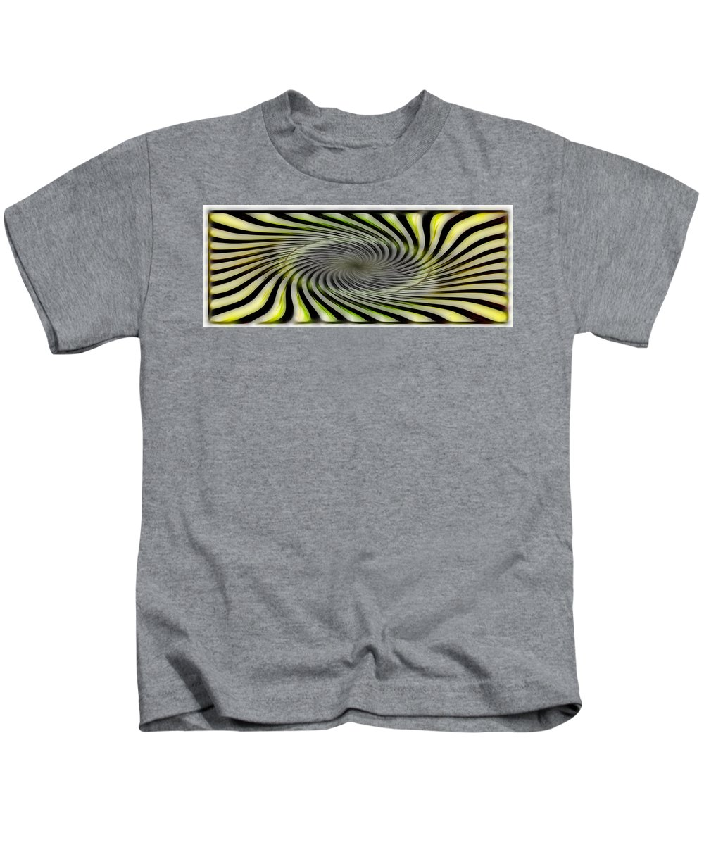 Abstract Kids T-Shirt featuring the digital art Abstrat by Galeria Trompiz