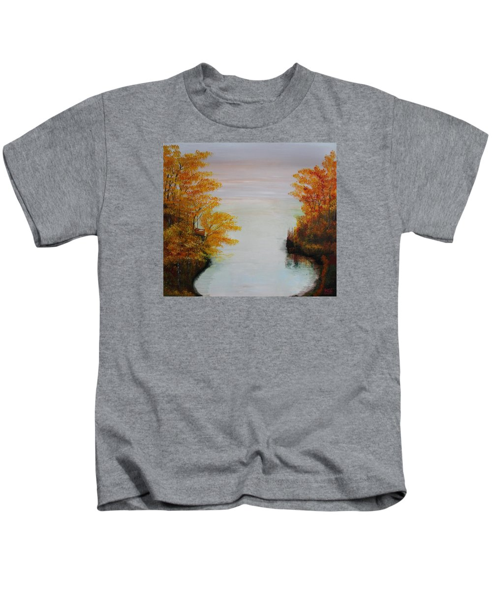 Originals Kids T-Shirt featuring the painting Acrylic Msc 064 by Mario Sergio Calzi