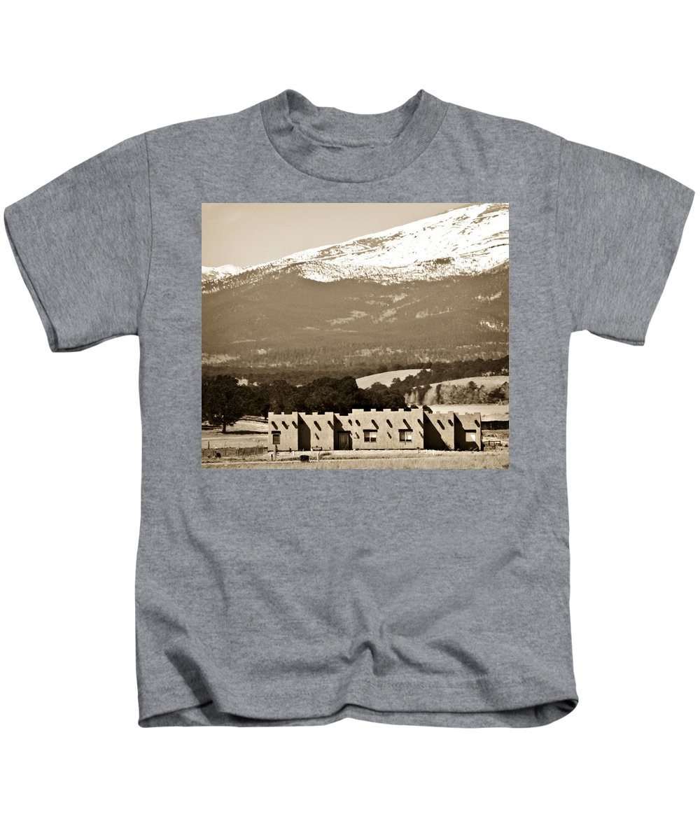 Americana Kids T-Shirt featuring the photograph Adobe House by Marilyn Hunt