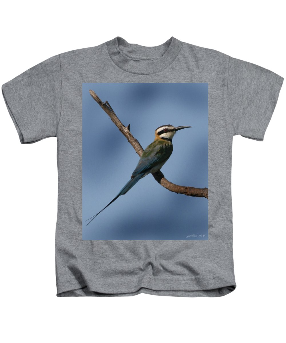 Bee Eater Kids T-Shirt featuring the photograph African Bee Eater by Joseph G Holland