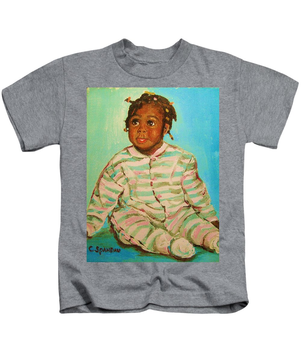 Africa Kids T-Shirt featuring the painting African Cutie by Carole Spandau