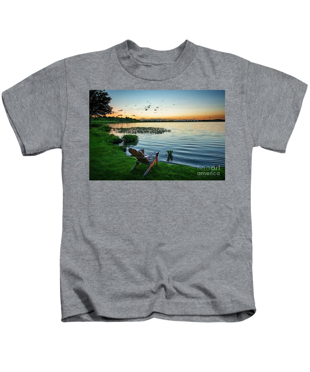 Sunset Kids T-Shirt featuring the photograph After Sunset by David Arment