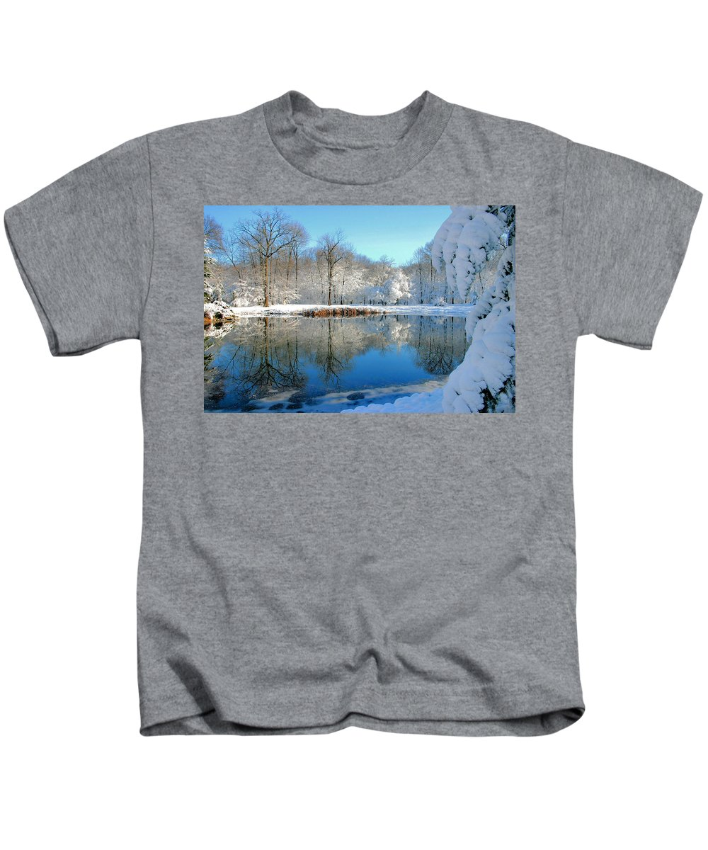 Lake Kids T-Shirt featuring the photograph After The Storm by Kristin Elmquist