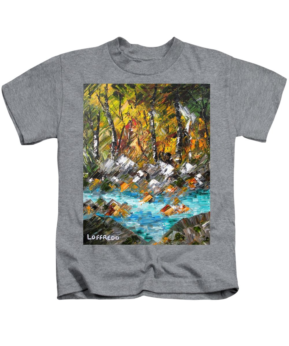 Fall Foliage Art Kids T-Shirt featuring the painting Afternoon Resting Place by Ralph Loffredo