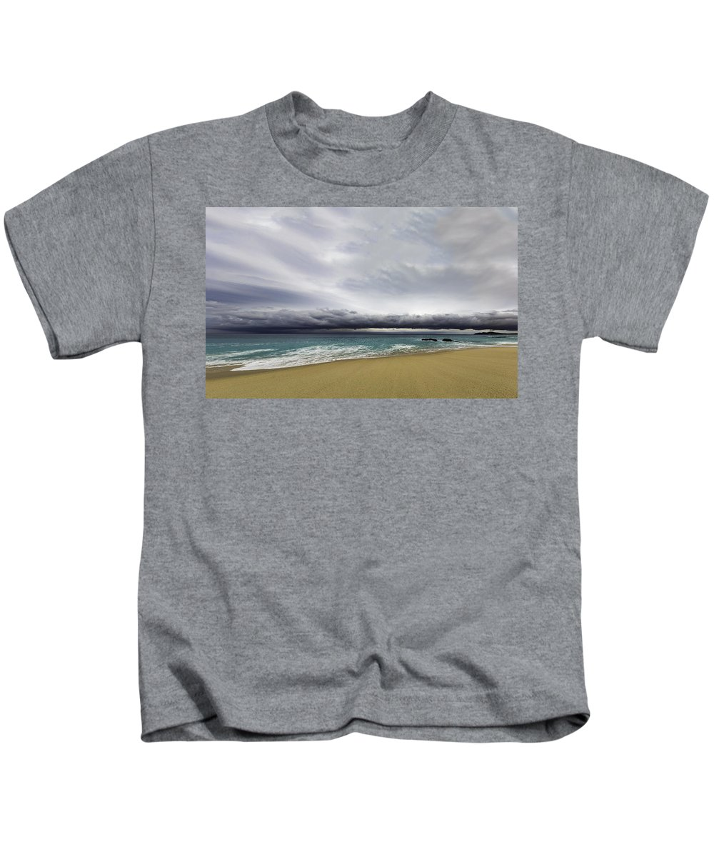 Storm Kids T-Shirt featuring the photograph Ahead Of Sandra by Mark Harrington