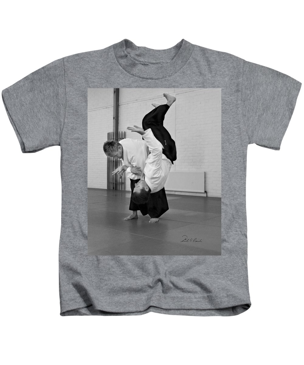 Fine Art Kids T-Shirt featuring the photograph Aikido Up And Down by Frederic A Reinecke